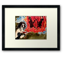 In the Fire and Heat Framed Print