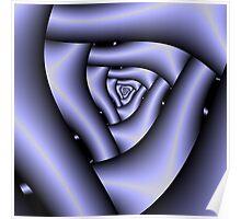 Blue Triangular Spiral Poster