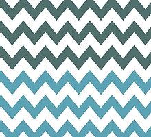 Minty Chevrons by helloartistry