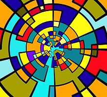 Spiral Color Blocks by Penny Ward Marcus