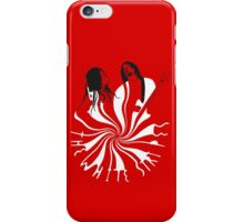 Candy Cane Children (on red) iPhone Case/Skin