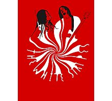 Candy Cane Children (on red) Photographic Print