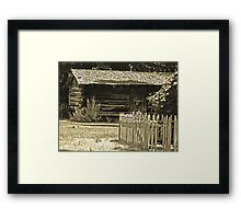 Pioneer Neighbors Framed Print