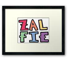 a colorful zalfie Framed Print