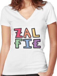 a colorful zalfie Women's Fitted V-Neck T-Shirt