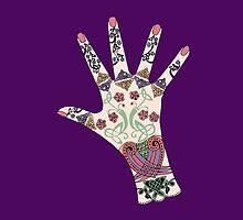 Celtic Mehndi hand by redqueenself