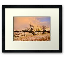 White Gold - Hill End - The HDR Experience Framed Print