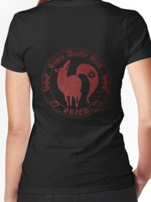 Fox, The Greed Women's Fitted V-Neck T-Shirt