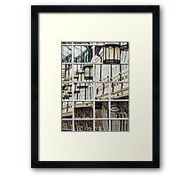 Shopping Arcade Abstract Framed Print