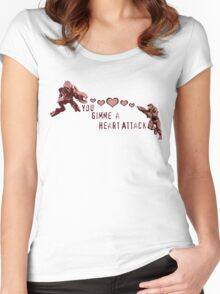 You Gimme a Heart Attack Women's Fitted Scoop T-Shirt