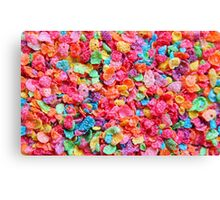 Fruity Cereal Canvas Print