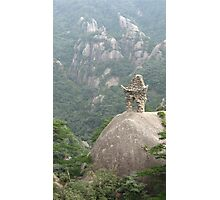 Stone temple at Huang Shan, China 2008 Photographic Print