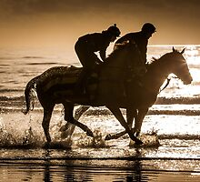 Beach Horse Riders by Simon West