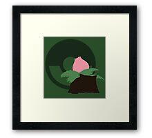 Ivysaur (Pokemon) - Sunset Shores Framed Print