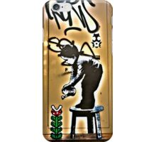 Watering the flowers... iPhone Case/Skin
