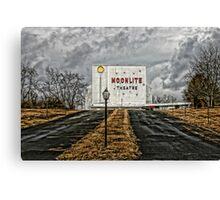 Moonlite Drive-In Canvas Print