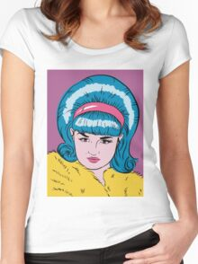 Miss Lacey Noel Design No. 1! (Bouffant) Women's Fitted Scoop T-Shirt