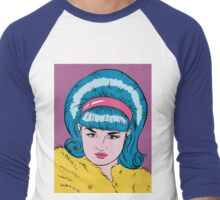 Miss Lacey Noel Design No. 1! (Bouffant) Men's Baseball ¾ T-Shirt