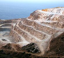 A Quarry on the coast of Northern Crete  by Gili Orr