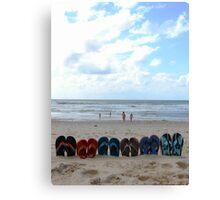 flip-flop set Canvas Print