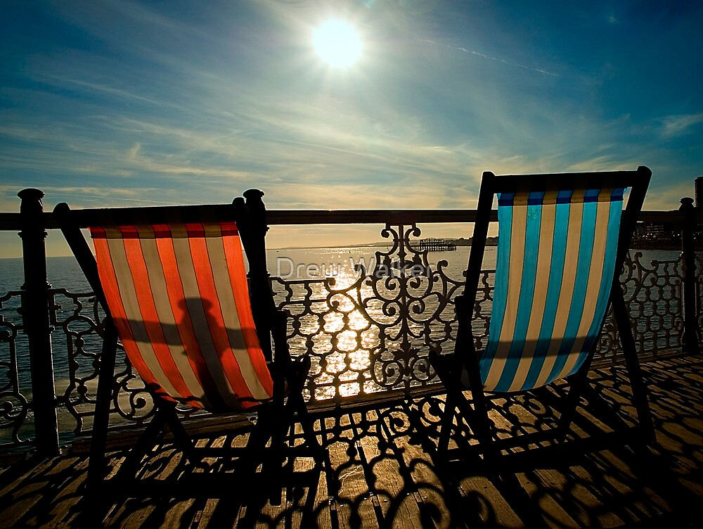 On Brighton Pier by Drew Walker