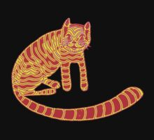 Ginger Cheshire cat Kids Tee