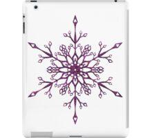 Purple Snowflake iPad Case/Skin