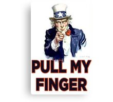 Uncle Sam - Pull My Finger Canvas Print