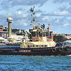 Newcastle Harbour NSW Australia - Svitzer Hamilton Tug by Phil Woodman