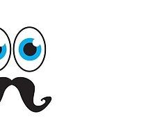 Senior MUSTACHE man with blue eyes by jazzydevil