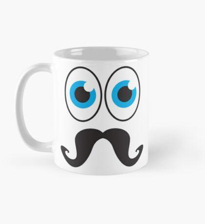 Senior MUSTACHE man with blue eyes Mug