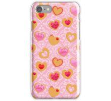 Valentine's day heart shaped cookies iPhone Case/Skin