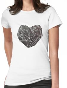 Heart Graphic 4 Womens Fitted T-Shirt