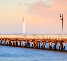 Pier at Dusk by Silken Photography