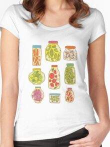 Autumn pickled vegetables Women's Fitted Scoop T-Shirt