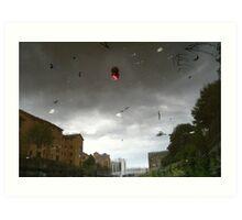 Strange Sky, Red Ball Art Print