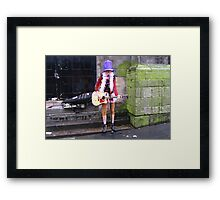 Busker at the Tron Framed Print