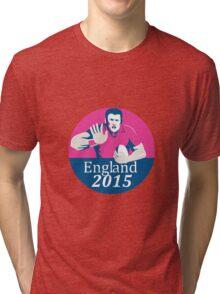 Rugby Player Fending England 2015 Circle Tri-blend T-Shirt
