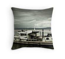Old Boat - Port Douglas Throw Pillow