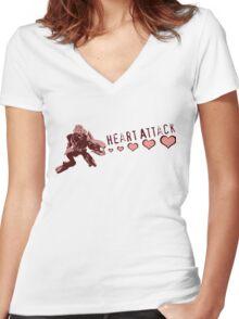 Sangheili Officer Heart Attack  Women's Fitted V-Neck T-Shirt