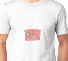 Bull Terrier on Sofa Unisex T-Shirt