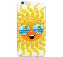 Summer Sun Cartoon with Sunglasses iPhone Case/Skin