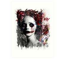 Harley Quinns valentines day Art Print