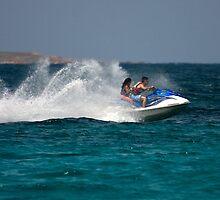 Caribbean Jet Ski 1 by David Chappell