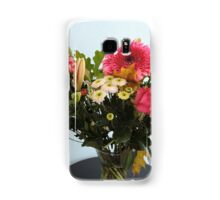 Fuchsia, White & Teal With Love Samsung Galaxy Case/Skin