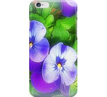 *Pretty Pansy Patch* iPhone Case/Skin