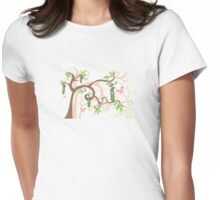 Magic Trees and Baby Girls in a Pod Womens Fitted T-Shirt