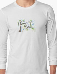 Magic Trees and Baby Boy in a Pod Long Sleeve T-Shirt