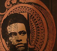 huey newton,silk screen 22x 30 by dirtycitypigeon