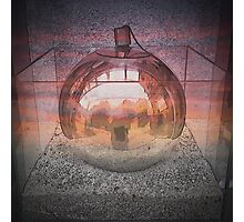 Silver Sphere Photographic Print